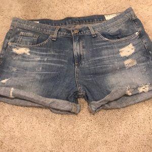 Rag & Bone Tattered Boyfriend Shorts